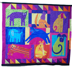 One of the Class of 2002 quilts