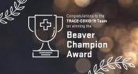 Beaver Champion Award graphic