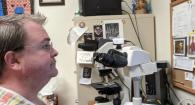 Dr. Sean Spagnoli and his virtual teaching set up
